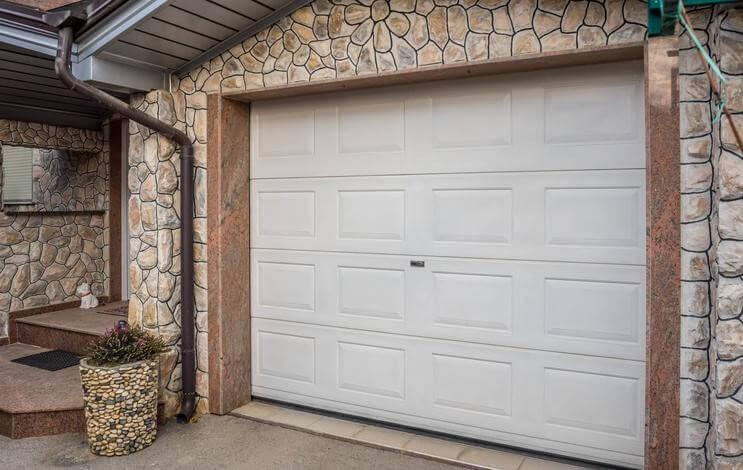 Expanded PVC garage door