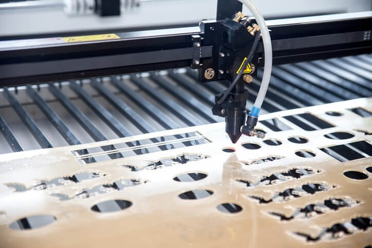 Laser cutting plexiglass sheet