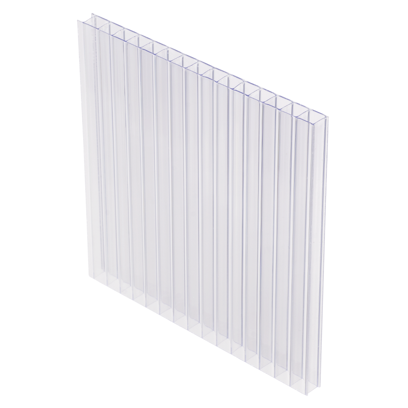 10mm Clear Twinwall Polycarbonate Sheet 48x120 Acme Plastics