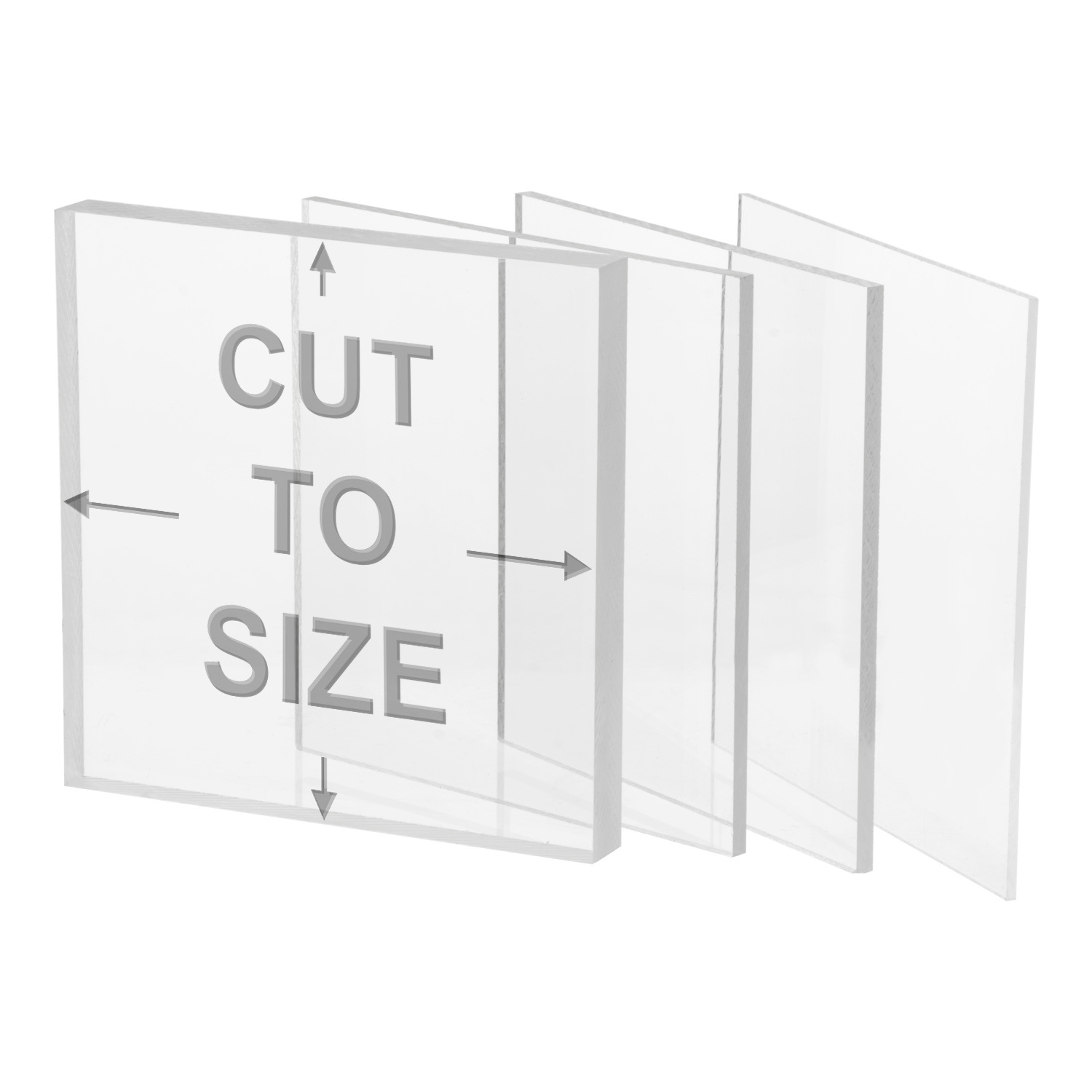 "1//2/"" THICK 4/"" x 4/"" Clear Acrylic Sheet Slab Cast Plastic Plexiglass Square"