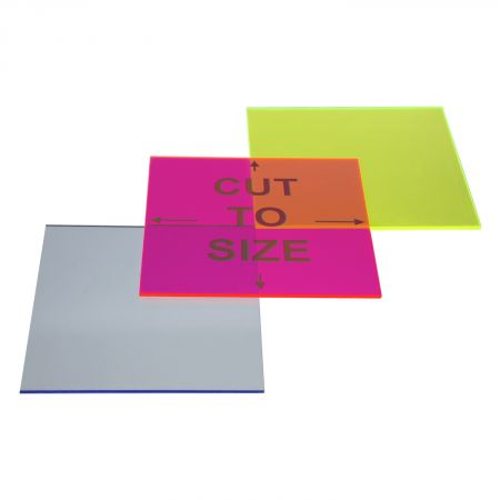 Cut-to-Size Fluorescent Color Acrylic Sheet - Cast | ACME Plastics, Inc.