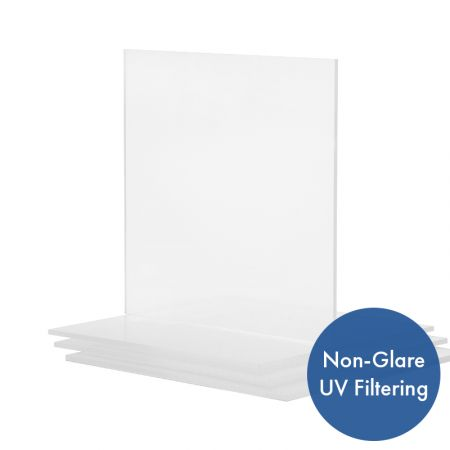 Acrylic Uv Filtering Op3 Non Glare P99 Frame Grade Clear Sheet