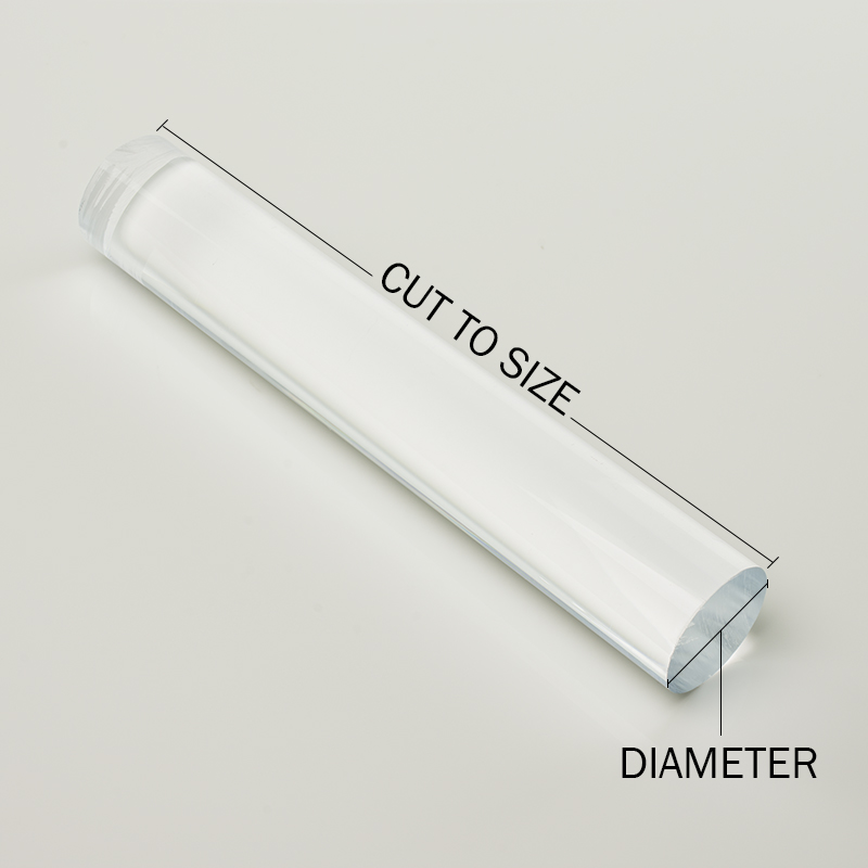 """Clear Polycarbonate Tube 1-1//2/"""" ID 3/' Length 1-3//4/"""" OD 1//8/"""" Wall"""
