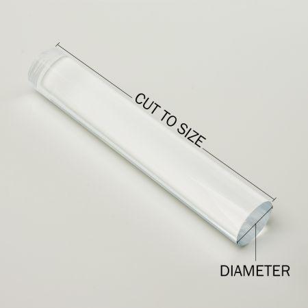 "3/"" Diameter UHMW Polyethylene Plastic Rod-Price Per Foot-Cut to Size!"